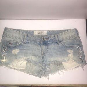 Hollister Distressed Rhinestone Shorts